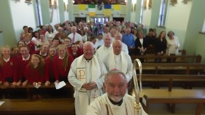 Archbishop Kieran O'Reill snaps a Selfie at Boherlahan Church Bicentenenry Mass