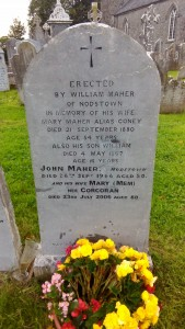 Jackie Maher's grave