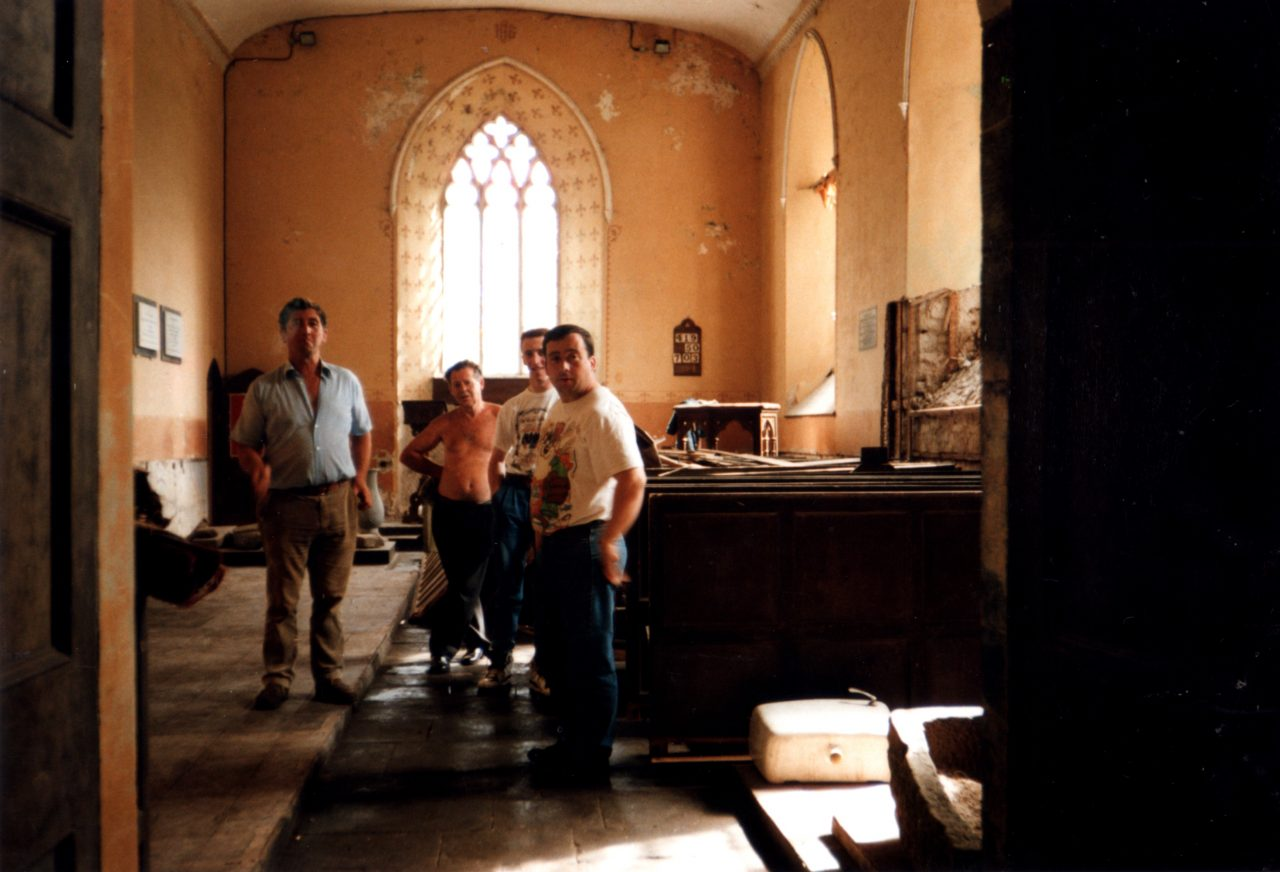 Interior of Ardmayle Church in 1990.