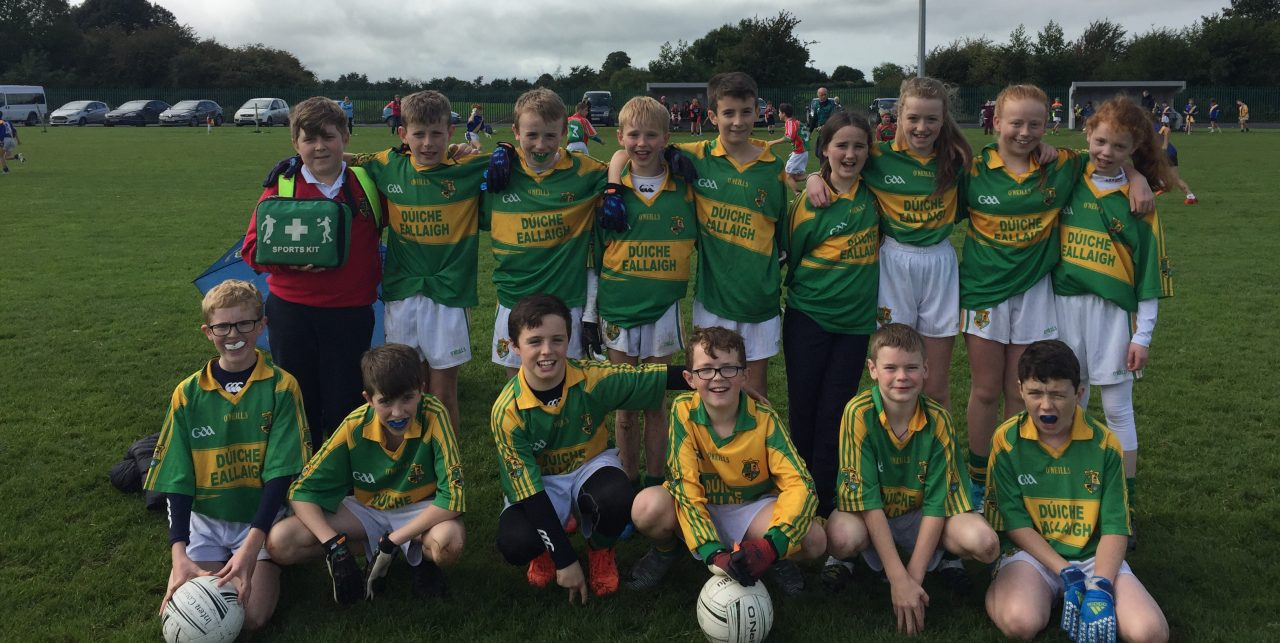 Dualla NS U13 Footballers Reached the Blitz Final in Littleton.
