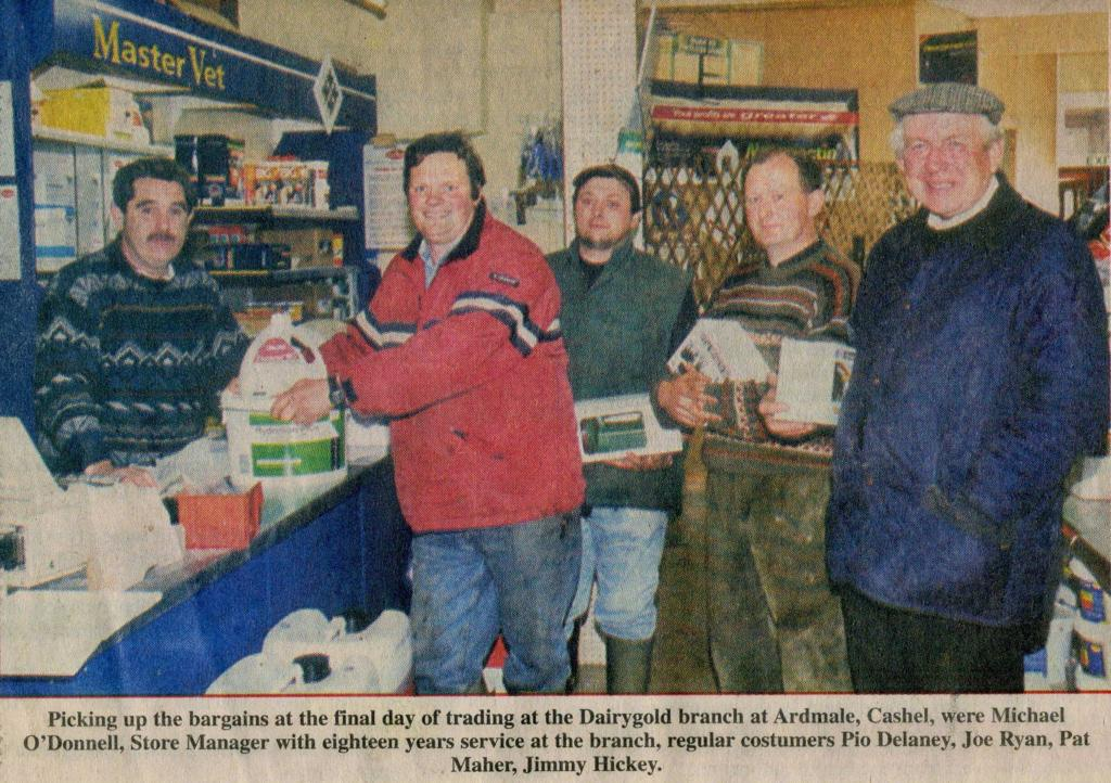Final Day of Trading at Ardmayle Dairygold Branch.