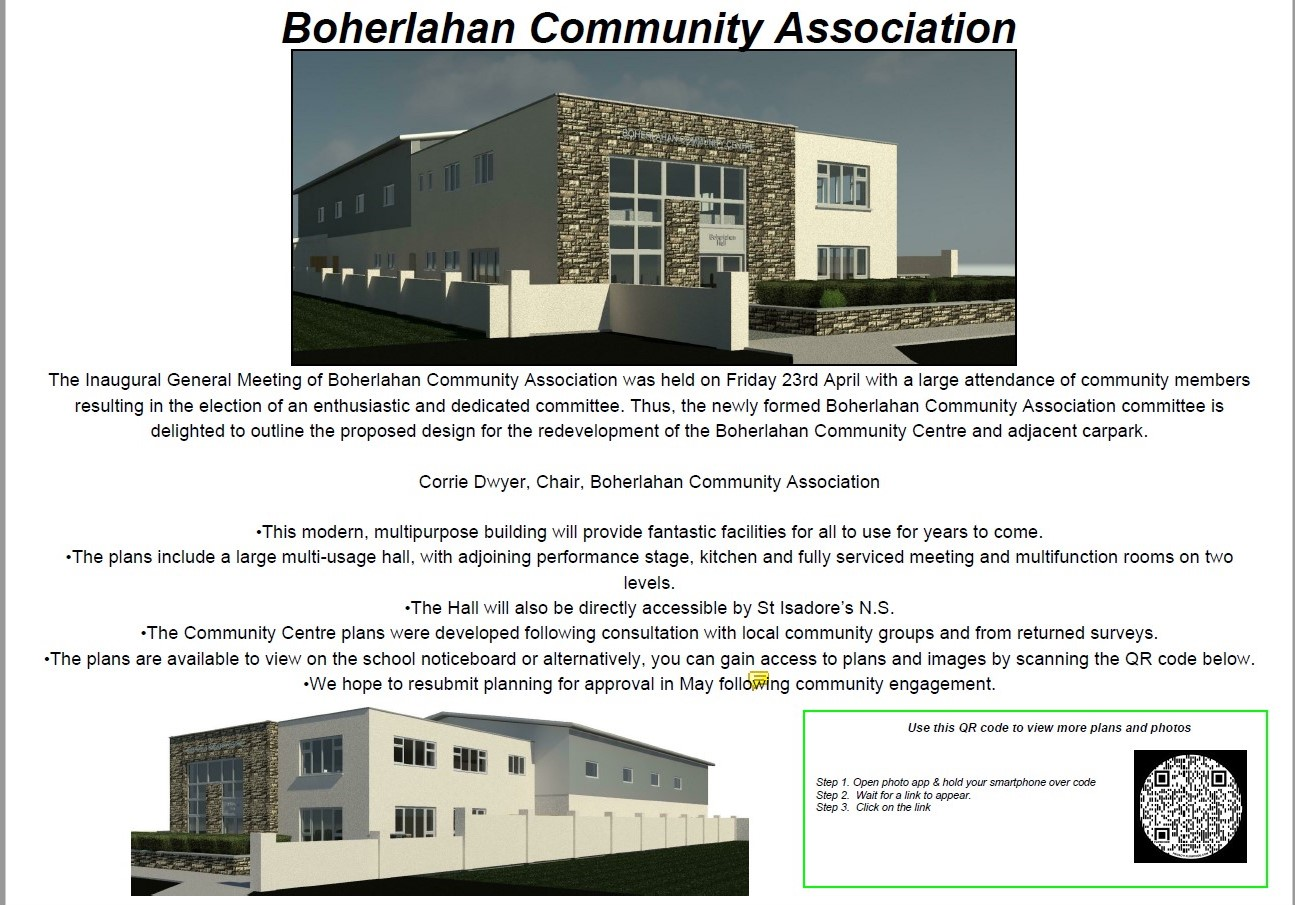 Boherlahan Development consultation leaflet